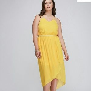 Lane Bryant  Plus Yellow High Low Sundress 22 | 2X